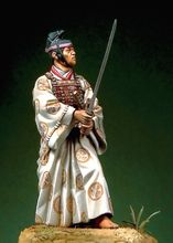 Unpainted Kit  1/ 32  54mm Duelling Samurai Warrior 54mm   Historical WWII Figure Resin  Kit Free Shipping