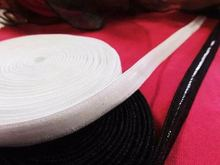 15meters size 1cm width black color off white color elastic non-slip silicone tape for lady's dress