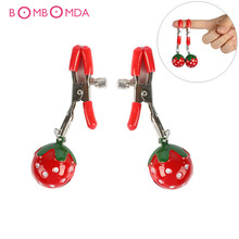 Buy 1 Pair Adjustable Adult Games Strawberry Nipple Clamps Clit Clamp Erotic Products Sex Toys Couples Fetish Breast Labia Clips
