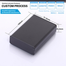YGS-002-3 71*25.5*100/2.79''x1''x3.93''(wxhxl)mm Aluminum enclosure with cnc machine treatment(China)