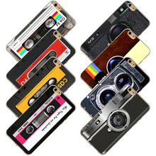 Cases For Apple iPhone 6 6s 4.7inch Retro Audiotape Camera Calculator Game Player Painted Vivid Pattern Soft TPU Case Cover Bag