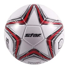 High Quality 2017 Star Soccer Ball Size 5 PU Leather Professional Football Ball For Official Match Training Classic Type(China)