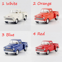 1955 3100 Pickup trucks 4 Color 1/32 alloy models model car Pickup Diecast Metal Pull Back Car Toy For Gift Collection(China)