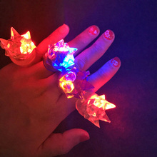 100PCS LED Flashing Light Ring Blinking Party Soft Rave Glow Jelly Finger Rings Children Girls Party Dress Cosplay Accessories(China)