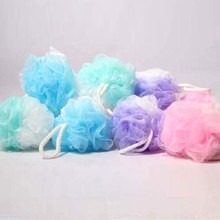 Colorful bath ball Scrub Strap Exfoliate Puff Sponge Loofah Flower Lace Ball ball bath towel scrubber Body cleaning
