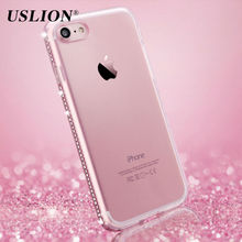 For Apple iPhone 8 7 6 6s Plus 5s SE Phone Case Luxury Diamond Transparent Soft TPU Cover Case Capa Coque For iPhone 7 Plus(China)