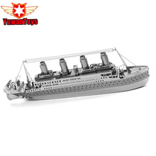 3D Metal Puzzle Titanic Stainless Steel Ship Model Puzzle Kids Toys Ship Model Creative Kids Toys Stainless Steel Laser Cutting(China)