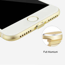 Phone Aluminum Alloy Charging Port Earphone Jack USB Dust Plug Set for iPhone 7 7plus  5S 6  Anti Dust Cap Stopper with box