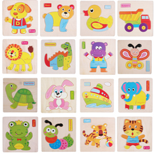 TQ Brand 24 Style Wooden 3D Puzzle Kids Toys Educational Brinquedos Montessori Juguetes Jouet Baby Gift(China)