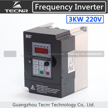high quality 3KW VFD inverter 220V input 1PH output 3PH frequency inverter spindle motor