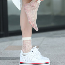 1 Pair Streetwear Women's Harajuku white Color Breathable Fishnet Socks Sexy Hollow out Nets Socks Ladies Sweet Mesh Sox(China)