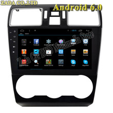 1024*600 9inch Quad Core Android 6.0 Car DVD GPS for Subaru Forester XV 2015 Radio Bluetooth 16GB Nand Flash 3G Wifi Mirror Link
