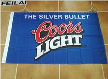 Coors Light Beer Sports Bar Flag White Flag 3ft x 5ft Polyester Banner Flying 150* 90cm Custom flag outdoor(China)