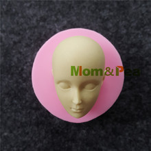 Mom&Pea 1140 Free Shipping Head & Face Silicone mold Cake Decoration Fondant Cake 3D Mold Food Grade