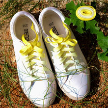 Flat Candy Color Gradient Shoe Laces Party Camping Boots Shoelace Canvas Strings(China)