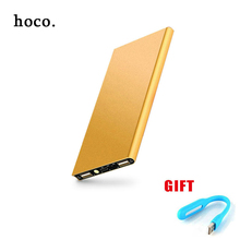 hoco NEW 12000 mAh Power Bank Portable Charger + led light Backup Power 2 USB External Battery Charger for Phone Fast Shipping