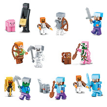 8set/lot Hot Sale Minecraft Toys Model Game Juguetes Minecraft Action Figures Safe ABS Gifts for Kids Brinquedos