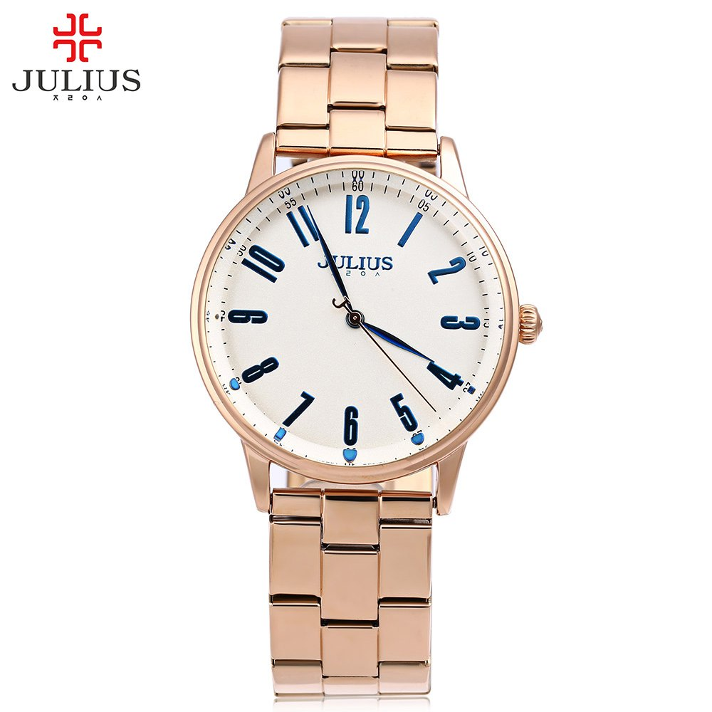JULIUS Men Watch Luxury Full Steel Waterproof Quartz Watch Elegant Analog Wristwatches relogio masculino<br>