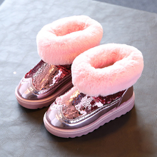 kids boots girls boots fashion bling snow boots girls warm cotton girls winter boots kids shoes girls shoes
