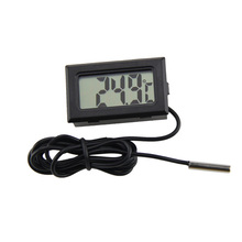 2017 Digital LCD Thermometer for Fridges Freezers Coolers Chillers Mini 1M Probe Black--M25