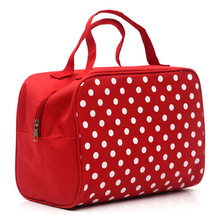 Fashion Lady Organizer Multi Functional Cosmetic Storage Dots Bags Women Makeup Bag With Pockets Toiletry Pouch(China)