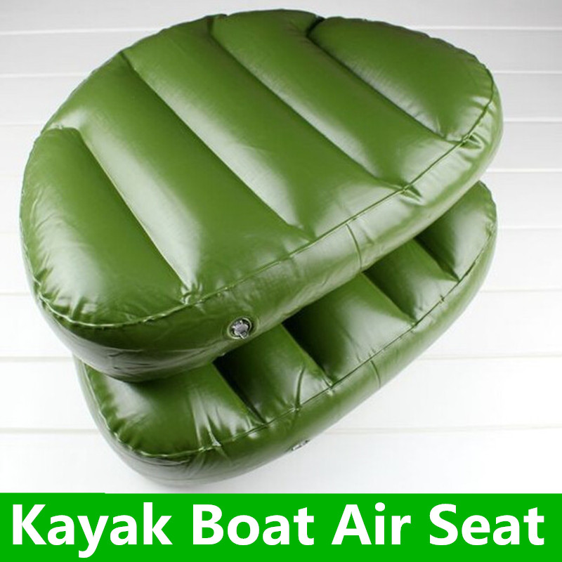 1 Piece Outdoor Camping Water Sports Boat Seat Inflatable Cushion 46*33*10cm Inflatable Alumnium Fishing Boat Kayak Rowing(China)