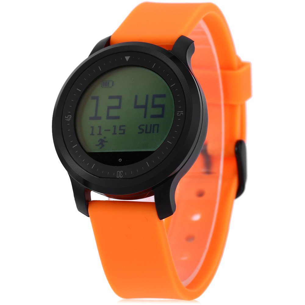 F68 Bluetooth 4.0 Black Orange Unisex Watch Waterproof Smart Sports Watch With Heart Rate Function Compatible With Android IOS<br><br>Aliexpress