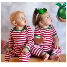 Baby White And Red Stripe Rompers Sets Lovely Christmas Clothing Wear new hot design Cotton Clothes Wear