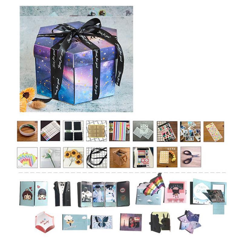 New Creative Album Gift Box Handmade Diy Photo Gift Box Explosion Gift Box For Birthday Surprise Best Gift To Boy Or Girl Friend