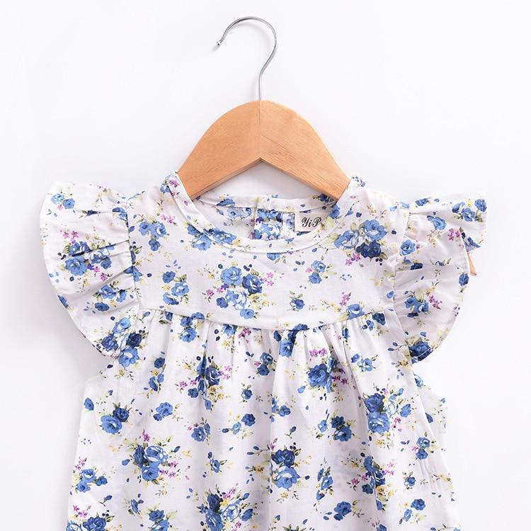 Mother nest 2018 Summer New Girls Flower Puff Sleeves Dress Cotton Children Kids Clothes Toddler Baby Birthday Kids Dresses (8)