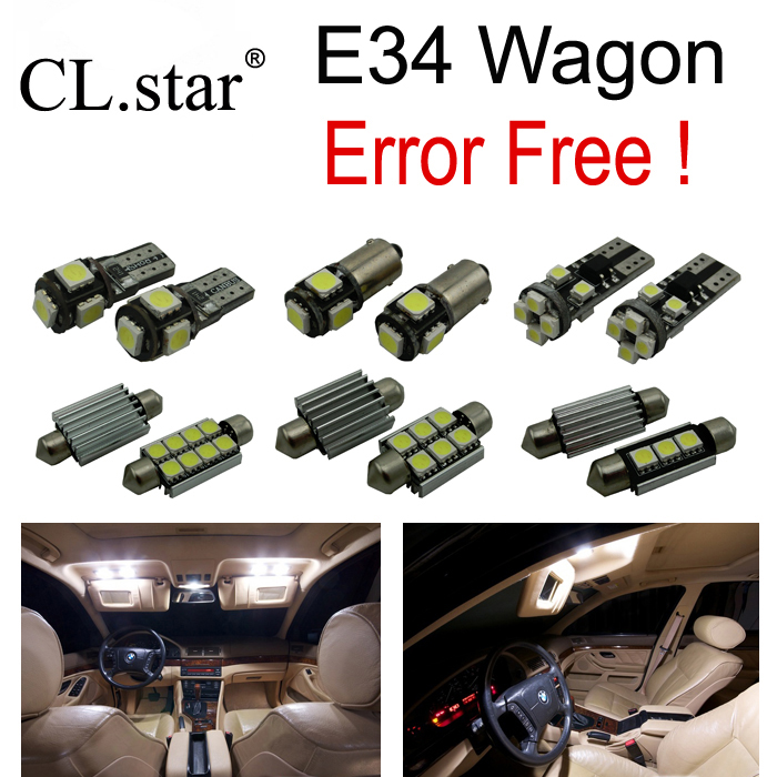 21pc X Error free for bmw 5 series E34 Wagon Touring M5 525i 530i 525it 530it 518i 520i 525ix LED Interior Light Kit (1992-1995)<br>