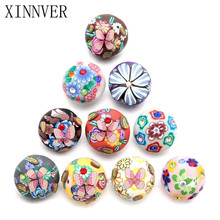10pcs/lot Colorful Flower 18mm Plasic Snap Buttons Polymer Clay Jewelry Wrist Watches For Women Charm Bracelet One Direction(China)
