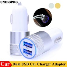 2.1A/24W 2-Ports USB Car Charger Adapter for iPhone X 8 7 Plus 6S 6 SE 2 5C 5S 4S 4 for iPod Touch 7 6
