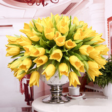 Free shipping (20pcs/lot) real touch PU  tulip artificial flowers home decoration wedding decoration christmas decoration