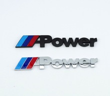 Chrome 3D Matel M Power Car Sticker Car Styling Decoration for BMW M3 M4 M5 X1 X3 X5 X6 E36 E39 E46 E30 E60 E92 Auto accessories(China)