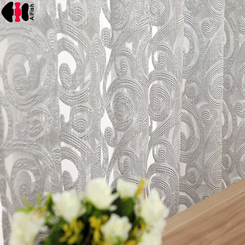 Gray curtains homes grey curtains ready made curtains Fabric for tulle purple curtains windows living room wp051C