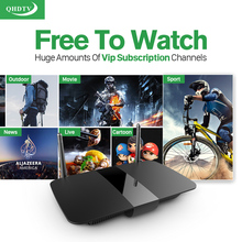Hot Arabic French IPTV STB HD European Sport News IPTV Channels Series Films VOD best 1G/8G Load WIFI Android TV Box