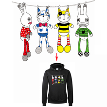 Cute Cartoon Rabbits Stickers For T-shirt Dresses Sweater Heat Transfer Iron On Transfer A-level Washable Appliqued