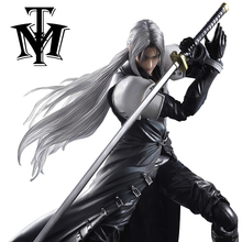"Anime Game Final Fantasy VII Sephiroth 10"" Action Figure Playarts Kai figurine Toys Collection Model Play arts FF7 Original Box(China)"