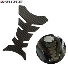 Carbon fiber motorcycle oil fuel tank cap gas protector protector sticker decal fish bone FOR benelli kawasaki ktm suzuki honda