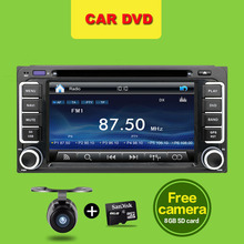 2 din 6.2 inch 200*100 Car DVD player GPS+BT+Radio+Touch Screen+car pc+aduio+Stereo+Video For Toyota Hilux VIOS Camry Corolla(China)