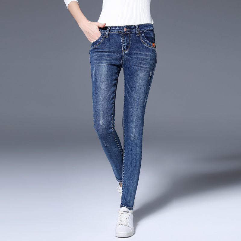 High-quality womens jeans 016 autumn and winter new womens elastic jeans pants feet fine women fashion jeanswearОдежда и ак�е��уары<br><br><br>Aliexpress