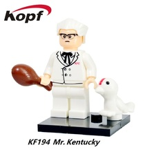 Building Blocks Super Heroes Kentucky Colonel Harland Sanders Katrina's Boyfriend Clockwork Orange Bricks Kids Gift Toys KF194