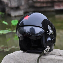2016 Motorcycle Scooter Helmet Cycling Helmet Air Force Jet Pilot Flight Double Lens helmets Size L