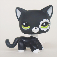 black cats littest pets white pattern lps shop action figure for kids toy doll(China)