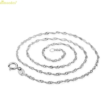 Hot Brand necklace female models wave chain of high-end women's jewelry, vintage jewelry silver jewelry top 45CM
