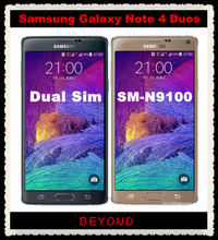 "Samsung Galaxy Note 4 Duos N9100 Original Unlocked 3G&4G GSM Android Phone Note4 Dual Sim N9100 Quad-core 5.7"" 16MP WIFI GPS(China)"