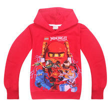 Kid Boys Hoodies Ninjagoed Children's Sweatshirts for Boy Cartoon T-shirt Kids Outwear Baby Tops Tees ninjago Costume jacket(China)