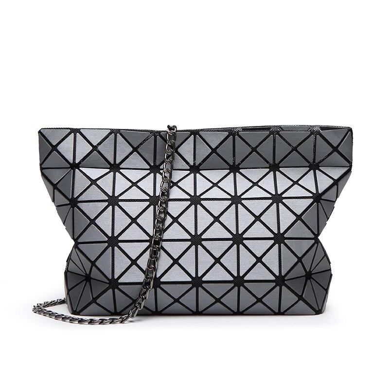 Fashion Women Matt Surface Chain BaoBao Bag Ladies Geometry Folding Tote Bao Bao Bolsa Crossbody Bags Evening Clutch Daily Bag<br><br>Aliexpress