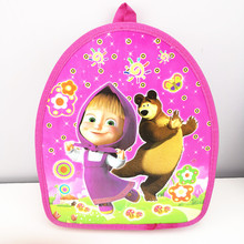 1pc 29*23*13cm Masha and Bear PP Bag SchoolBag Daypack Birthday Party supplies Gift Party Favors For Kids Boy Girl(China)